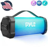 Pyle PBMSPRG4 Wireless & Portable Stereo Radio Speaker with Built-in RGB Lights,