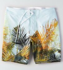 1 American Eagle Outfitters Mens PALM Flex Swim Board Shorts Beach Surf LARGE L