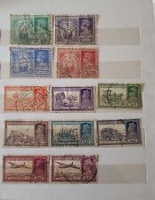Nice collection of 12 diff.Indian  King George VI used stamps  British India