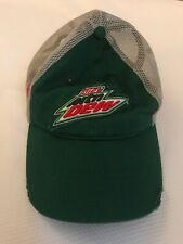 Rare Nascar Diet Mountain Dew Dale Jr 88 Men's Mesh Trucker Hat Cap Green