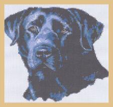 Beautiful Black Labrador Full  Counted Cross Stitch Kit