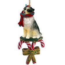 Australian Shepherd Blue Dog Candy Cane Christmas Tree ORNAMENT