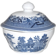 Churchill China Blue Willow Georgian Covered Sugar Bowl with Lid