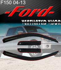 2004-13 F-150 Super Cab Smoke Window Visor In-Channel+2 White T10 LED