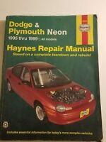 Haynes Automotive Repair Manual Dodge & Plymouth Neon 1995-1999 All Models