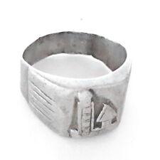 Ring size 8.5 Antique Ethiopian Silver signet