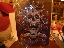 Metal Skull Designed Placque - Superb Detailing & Colouration - Man Cave?