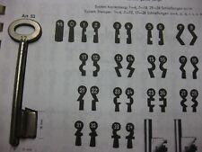 Chubb Schlüssel Rohling Nr. 17 Art. 53 für Kastenschloss
