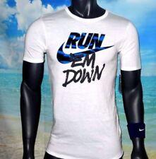 Magliette da uomo bianco Nike in misto cotone
