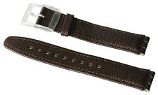 "ORIGINAL SWATCH 17mm GENT ARMBAND ""BROWN LEATHER XL - Gent"" (AG0005XL) NEUWARE"