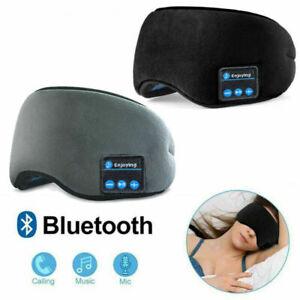 Wireless Bluetooth Women Mens Sleep Eye Mask Blackout Headset Stereo Headphones
