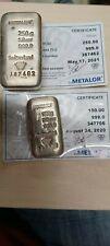 More details for metalor 250g bar and 100 g bar