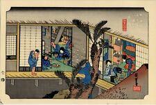 UW»Estampe japonaise Hiroshige Tokaido 61 K9 B16