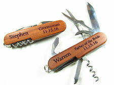 Personalized Engraved 8 Function EDC Pocket Knife Groomsman Knives Multi Lines