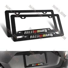 X2 RALLIART Car Emblem w/ ABS License Plate Tag Frame for Mitsubishi Lancer EVO