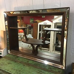 1960s Mid Century Modern Atomic MCM Shadow Box Mirror