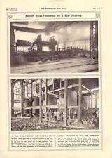 1917 trignac ACCIAIO FONDERIE AUSTRIACO PRIGIONIERI DI GUERRA messo al lavoro