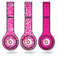 Removable Vinyl Decal - Beats Solo HD Skins - Pink Animal Print Set of 3