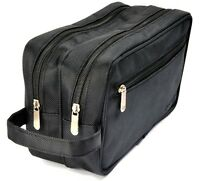 Oakland Men's Large Nylon Washbag Travel Wash Bag with 2 compartments