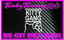 Hello Kitty Gang Bow Car Truck Laptop Decal Vinyl Sticker
