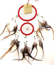 Capteur Attrapeur de rêve Dream Catcher Attrape dreamcatcher rouge red plumes
