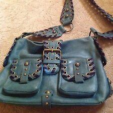 Betsy Johnson Teal Leather Shoulder Bag
