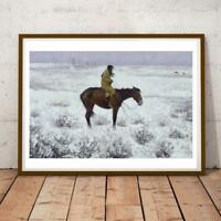 34x20 Inch Frederic Remington Herd Boy Art Print