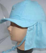 KU46 47 48 49 50 51 52 binden Nacken Schutz Sommer Sonnen Hut Mütze Mädchen blau