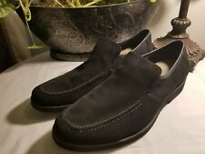 """Mens HUSH PUPPIES """"Reminisce"""" black suede loafer sz 9.5M"""