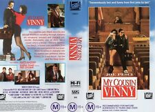 MY COUSIN VINNY - Joe Pesci -VHS - PAL -NEW - Never played! -Original Oz release