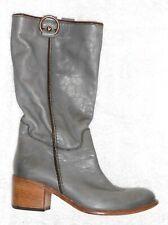 ALBERTO FERMANI bottes cavalières cuir gris P 39 TBE
