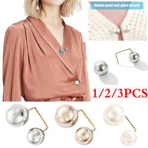 Women Girls Elegant Fashion Imitation Pearl Brooch Pin Fastener Jewellery Gifts