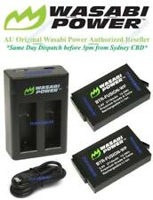 Wasabi Power (2710mAh) Battery x 2 + Dual USB Charger for GoPro Fusion,ASBBA-001