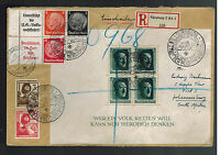 1937 Nuremburg Germany SS Cover to Johannesburg SOuth Africa