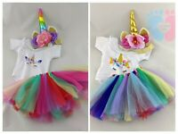UNICORN CLOTHES, TOP, SKIRT & HEADBAND FITS MY FIRST BABY ANNABELL DOLL