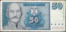 Yugoslavia banknote - 50 dinara - year 1996 - Prince Milos Obrenovic - RARE