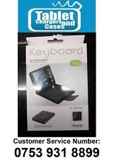 Bluetooth Black Real Leather Keyboard Case Stand for Apple Ipad MINI Tablet