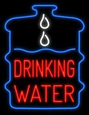 "New Drinking Water Shop Open Beer Bar Neon Light Sign 24""x20"""