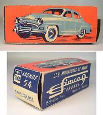 Norev 1/43 original Leer Box / Empty Box für Simca Aronde 9 Gris Blue #5755