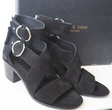 RAG & BONE Black Suede Leather MARI Strappy Sandals $450 - Size 6
