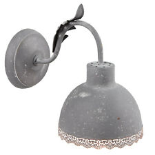 Wall Lamp Retro Lamp Dark Grey Metal 15x24x26cm Shabby Vintage Country House