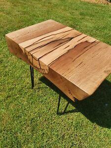 Rustic . chunky . live edge .handmade.SOLID OAK coffee table