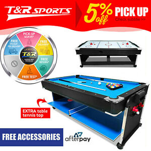 7Ft 3-In-1 Convertible Air Hockey / Pool Billiards / Table Tennis Table Free Acc