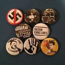 "ANTI RACISM 1"" buttons badge PEACE EQUAL RIGHTS PROTEST"