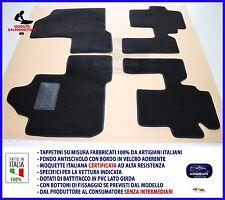 Tappetini Moquette Auto per Fiat Multipla -Tappeti Velcro Antiscivolo NO LOGO