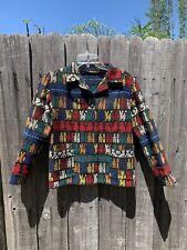 Vintage Ethnic Woven Jacket Hippie Boho Embroidered Woman's Medium?