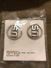PAIR - U.S. AIR FORCE ENLISTED COLLAR INSIGNIAS BOS