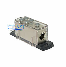 Platinum Car Ground Distribution Block (1) 2/4 AWG In & (4) 8 AWG Out GDB1248P