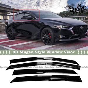 FITS 2019-2021 MAZDA 3 SEDAN JDM MUGEN STYLE WINDOW VISOR RAIN GUARD DEFLECTOR