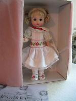 "Madame Alexander 8"" Sweet Kisses for Grandma Doll-White Dress Embroidered Ribbon"